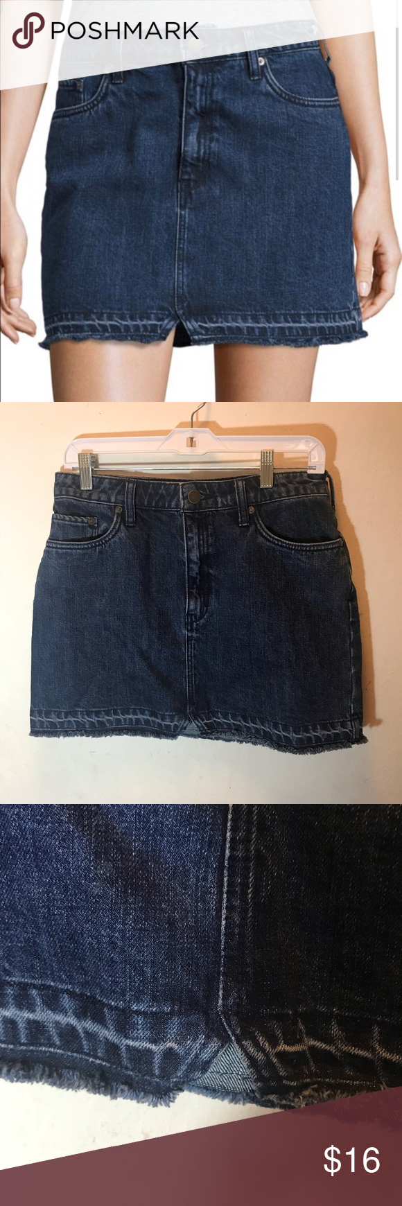 ef1d552c8c7ff Free People Step Up dark denim mini skirt Free People Step Up dark denim  mini skirt