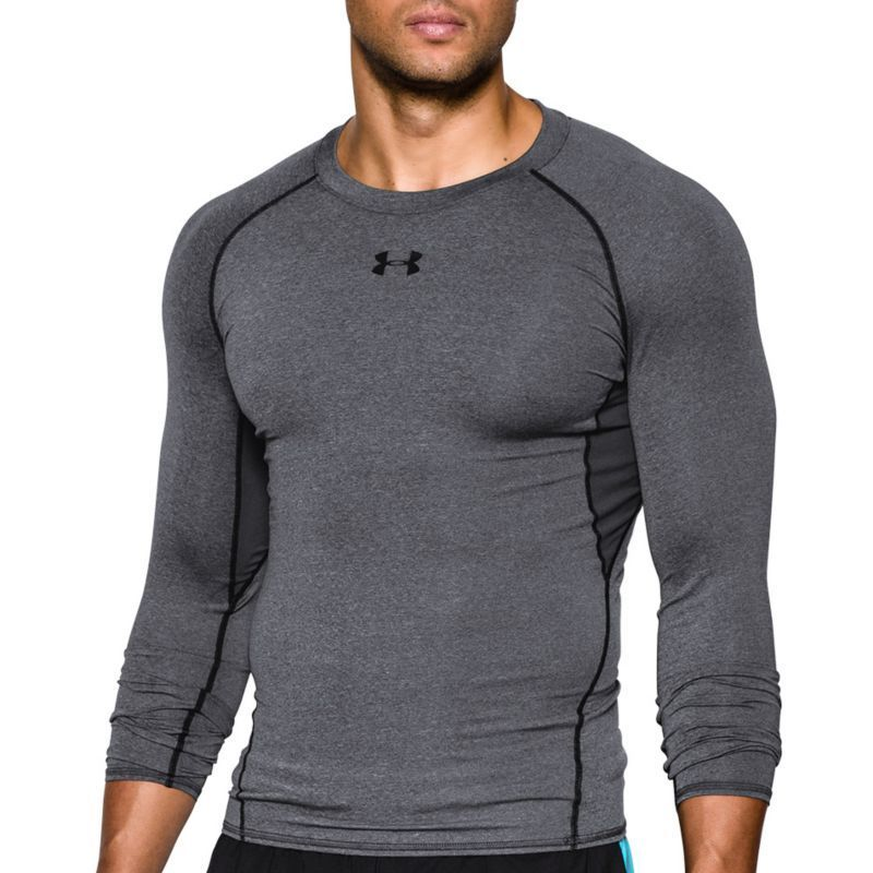72f061e11 Under Armour Men's HeatGear Armour Long Sleeve T-Shirt, Size: Medium,  Carbon Heather/Black