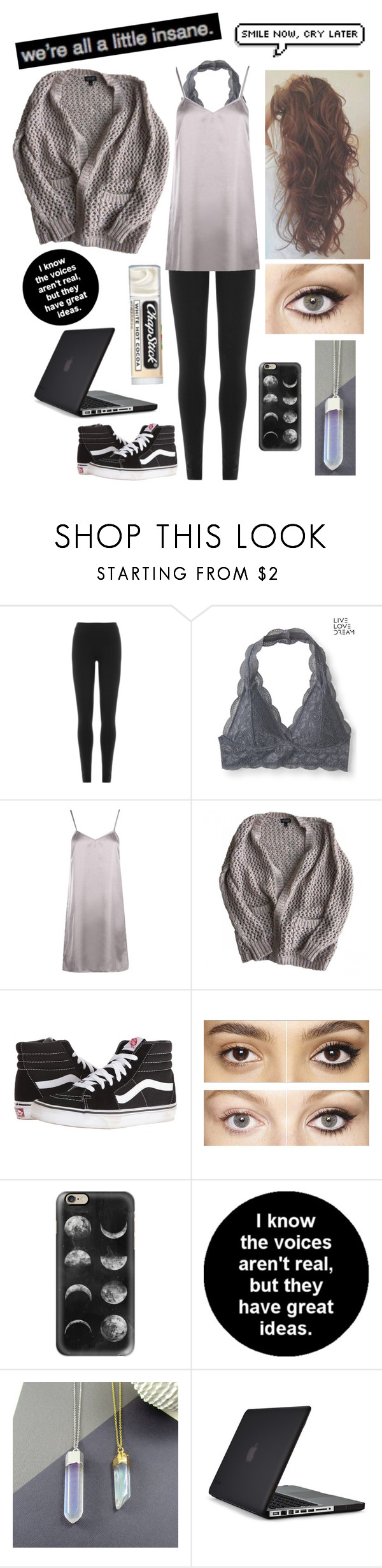 """""""Untitled #632"""" by alexbeirsack ❤ liked on Polyvore featuring DKNY, Aéropostale, Boohoo, Topshop, Vans, Charlotte Tilbury, Casetify, Speck and Chapstick"""