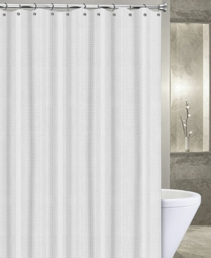 Popular Bath Waffle Stripe 72 X 72 Shower Curtain White