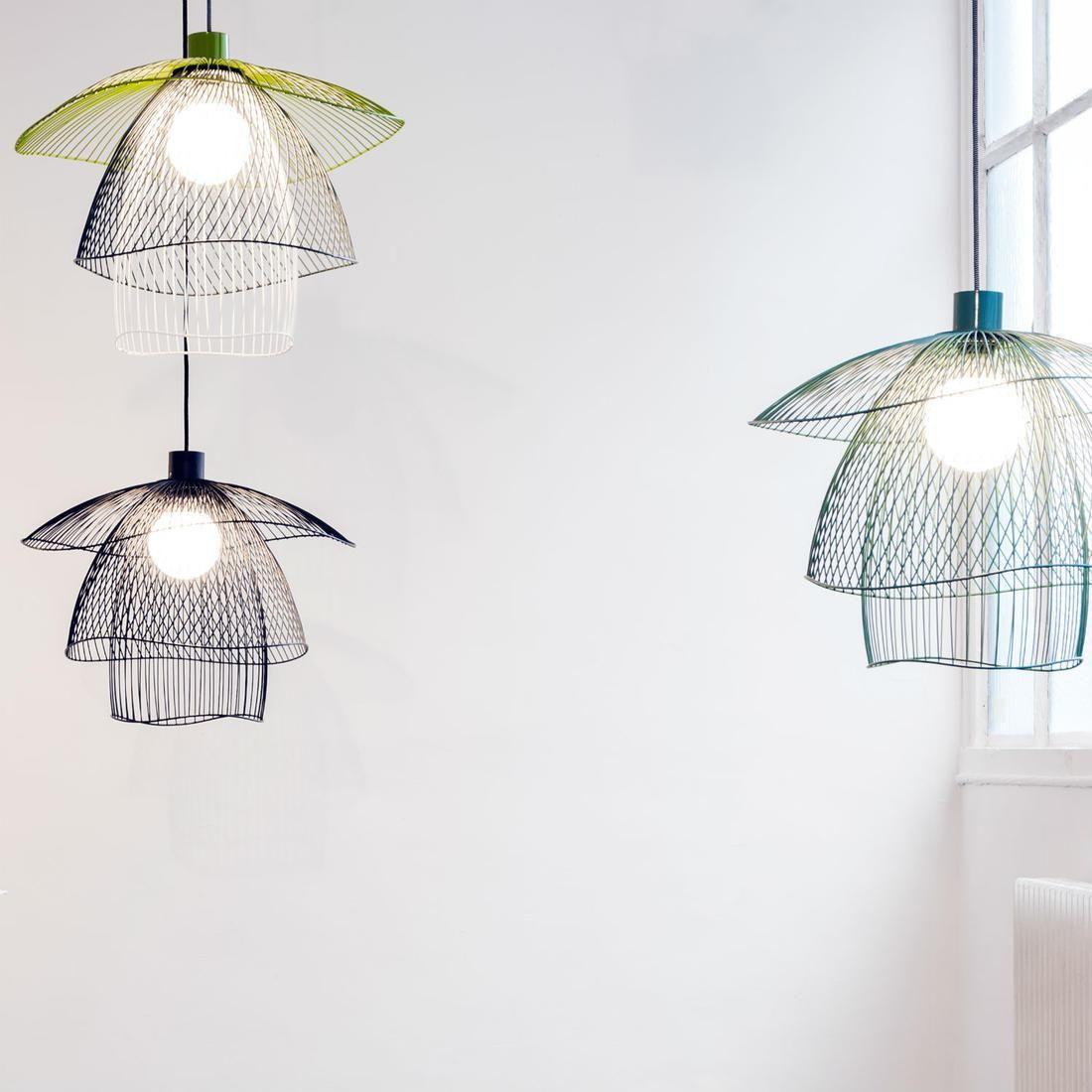 papillon suspension m tal bleu vert blanc 56cm forestier id es pour la maison. Black Bedroom Furniture Sets. Home Design Ideas