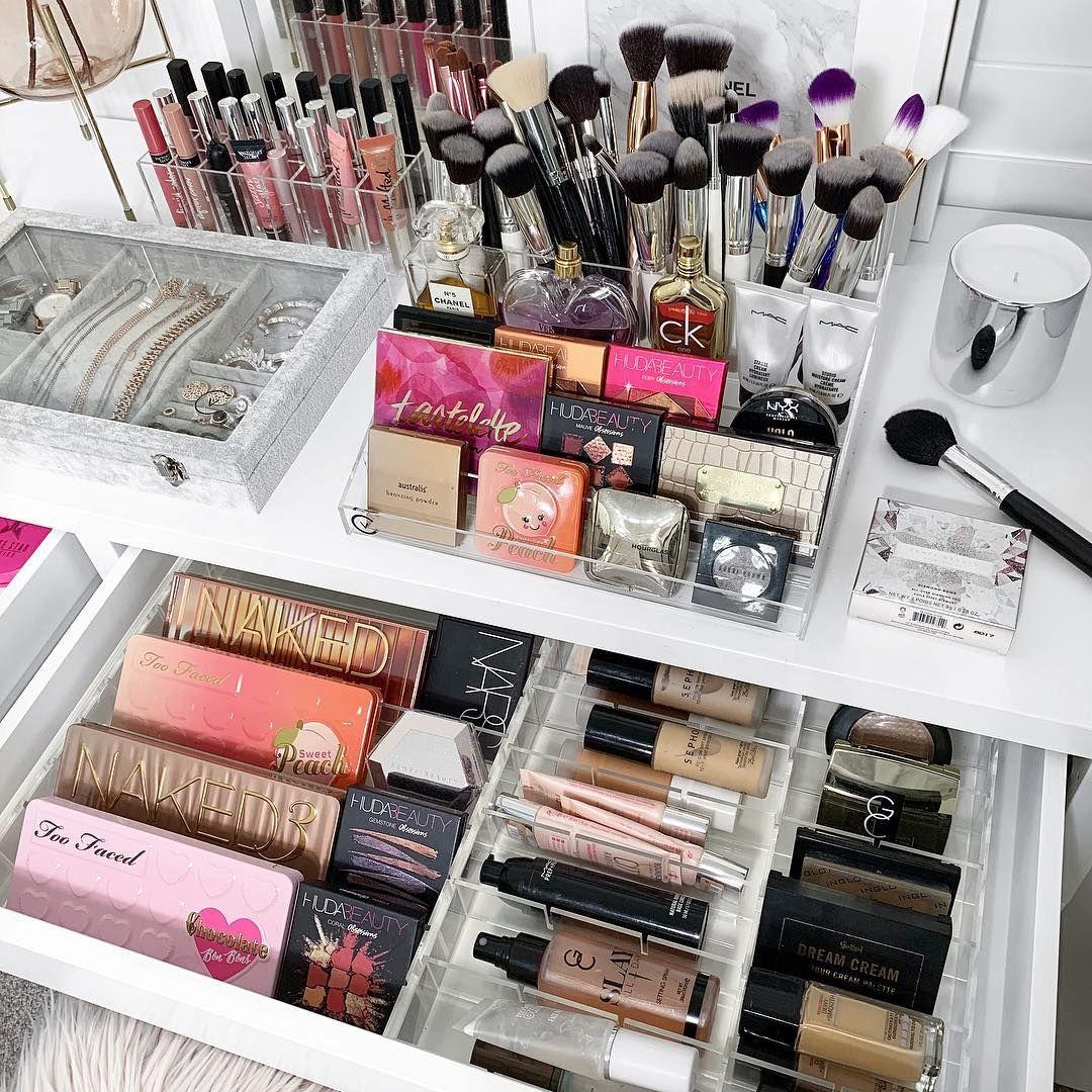 Pin By Keren On Maquillaje Makeup Storage Organization Beauty Storage Luxury Makeup