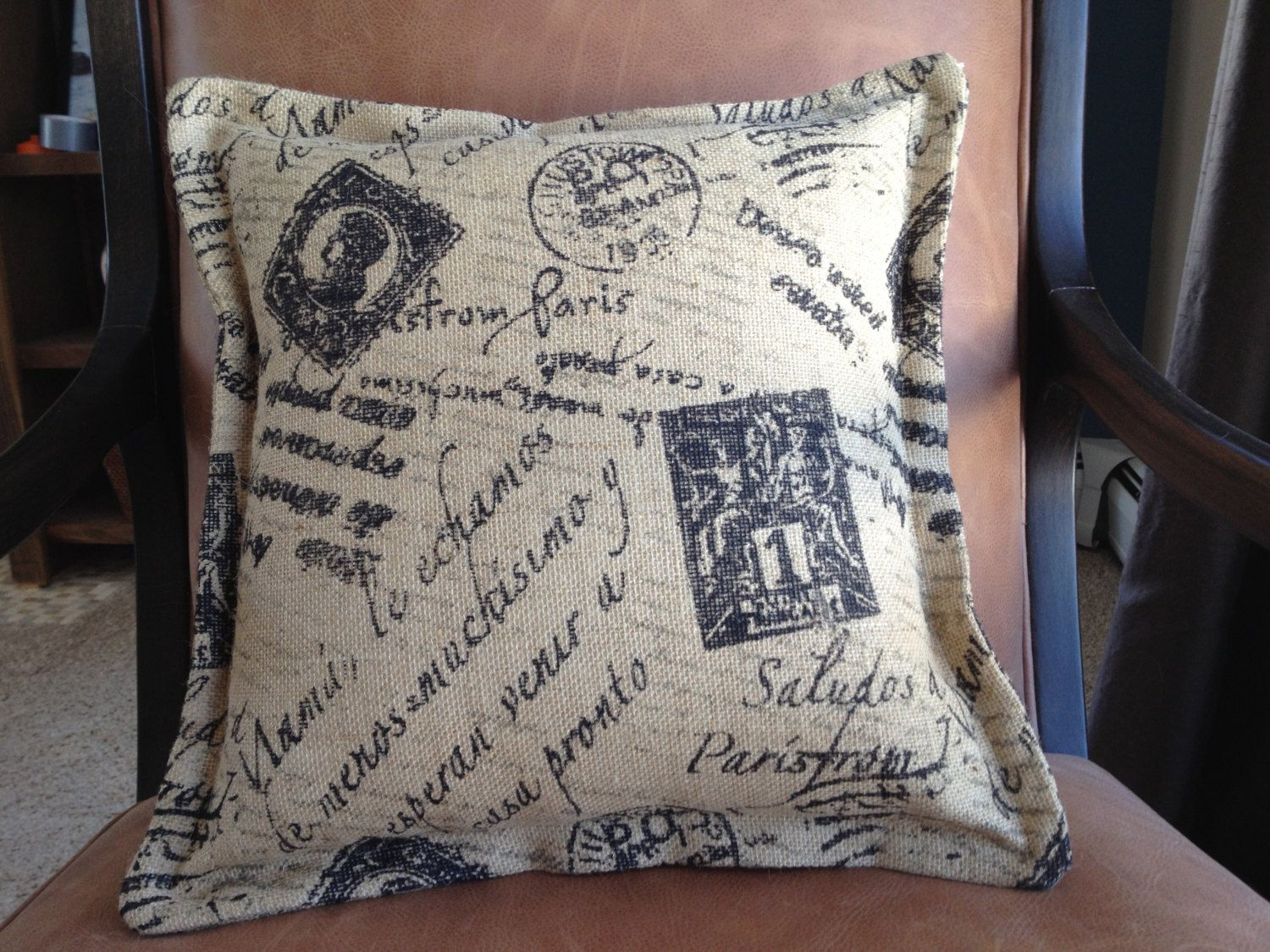 French Country Burlap Pillow Cover. $16.16, via Etsy. | Hello ...