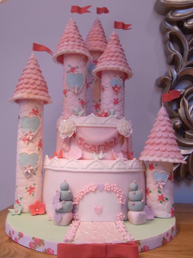 Pink Princess Castle Cake » Princesses & Tiaras ~ Princess Party Ideas, Princess Themed Events, Princess Party Inspiration & More