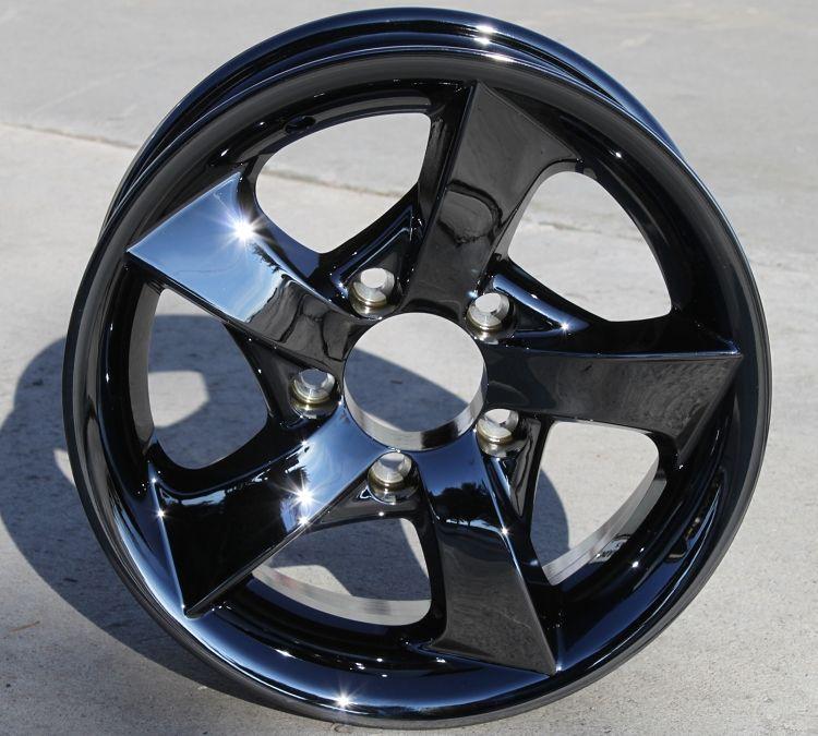 14 aluminum type s02 dark chromed aluminum trailer wheel