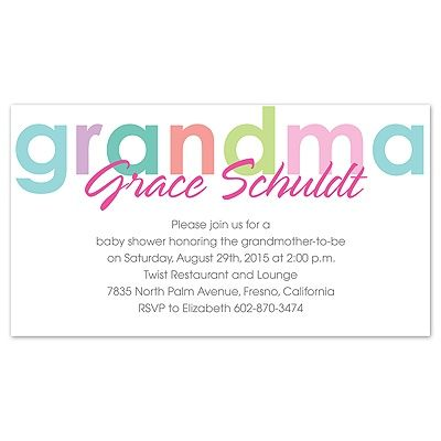 grandmother baby showers Happy Grandma - Baby Shower Invitation - baby shower invitation letter
