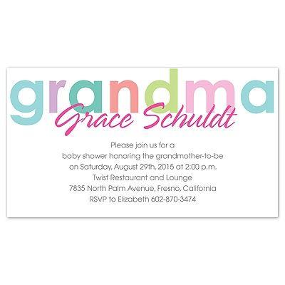 grandmother baby showers Happy Grandma - Baby Shower Invitation - how to word baby shower invitations