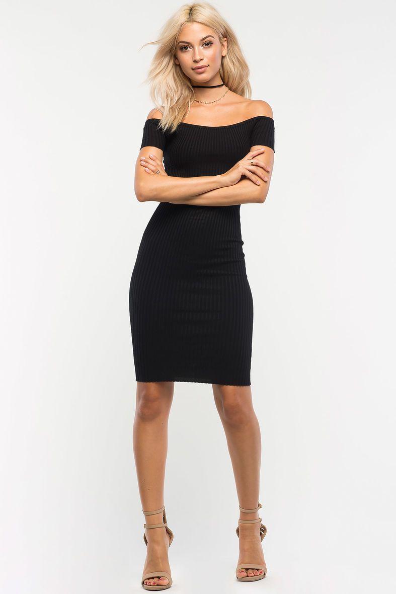 Modern off shoulder midi dress fashion inspiration pinterest