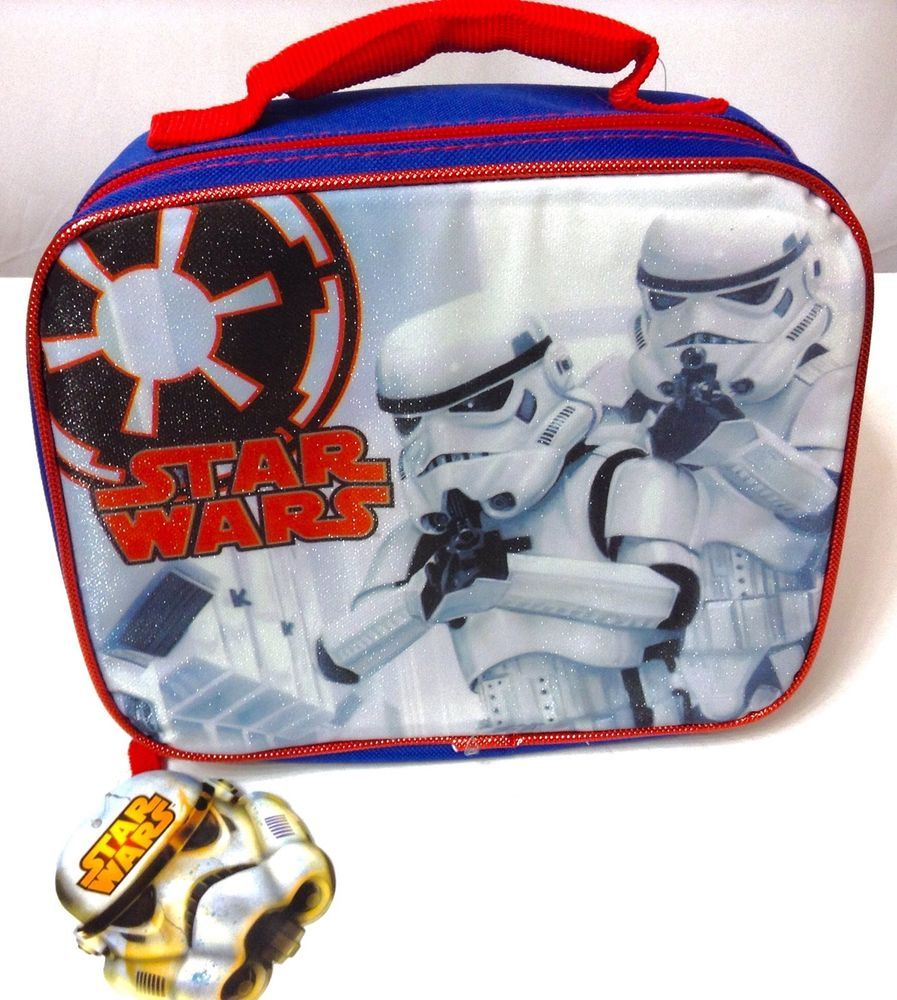 New STAR WARS STORM TROOPERS SOFT LUNCH BOX Insulated Food Bag Disney Lunchbox #Disney