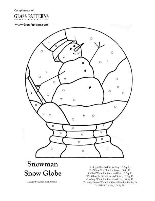 Snowman Snowglobe Lots of glass patterns. Could also use as appliqué patterns