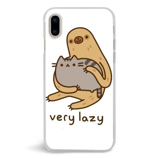 reputable site 2a9f6 562e1 Pusheen Cat And Sloth Very Lazy,iPhone X Case,Custom iPhone X Case ...