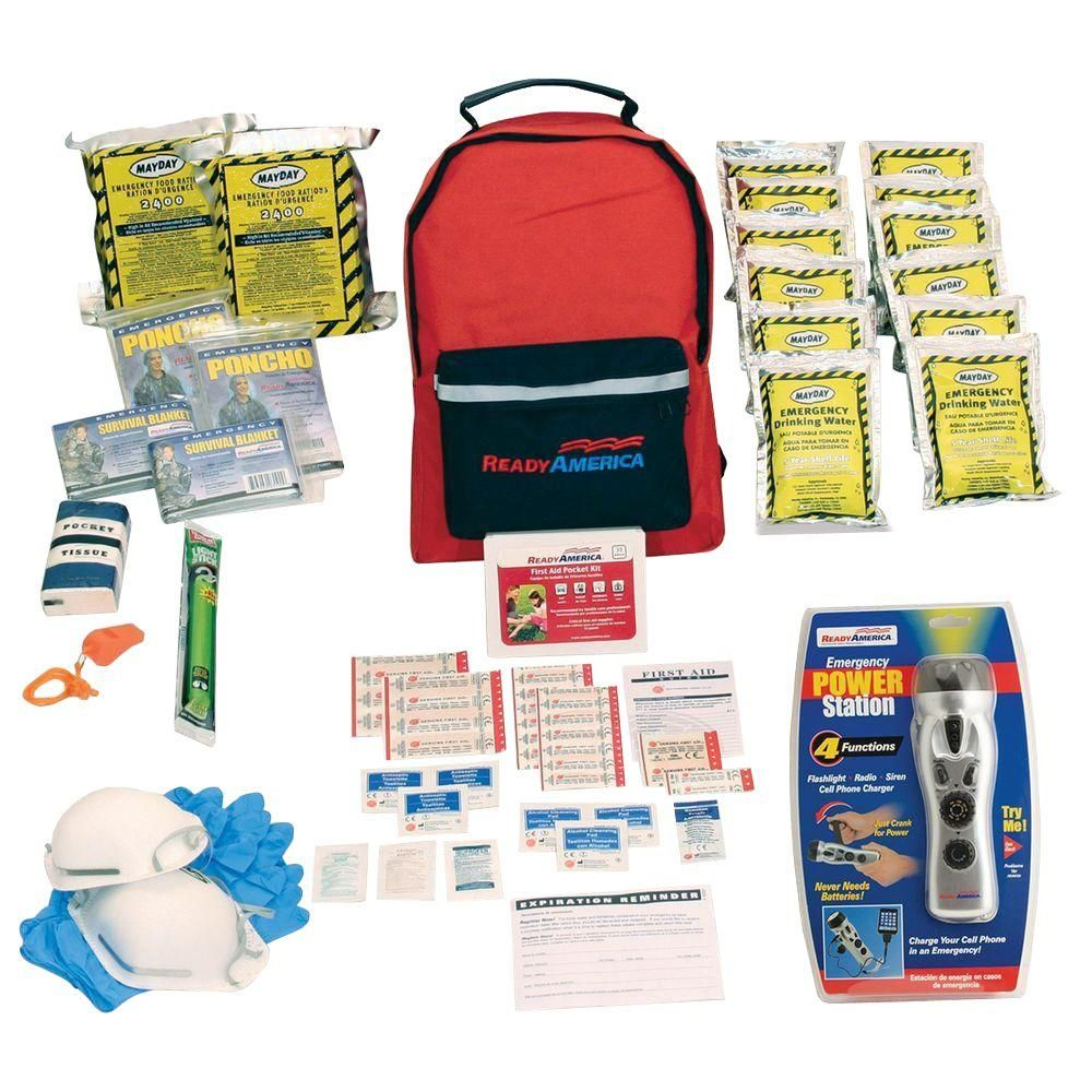 Ready America 2-Person 3-Day Emergency Kit with Backpack and