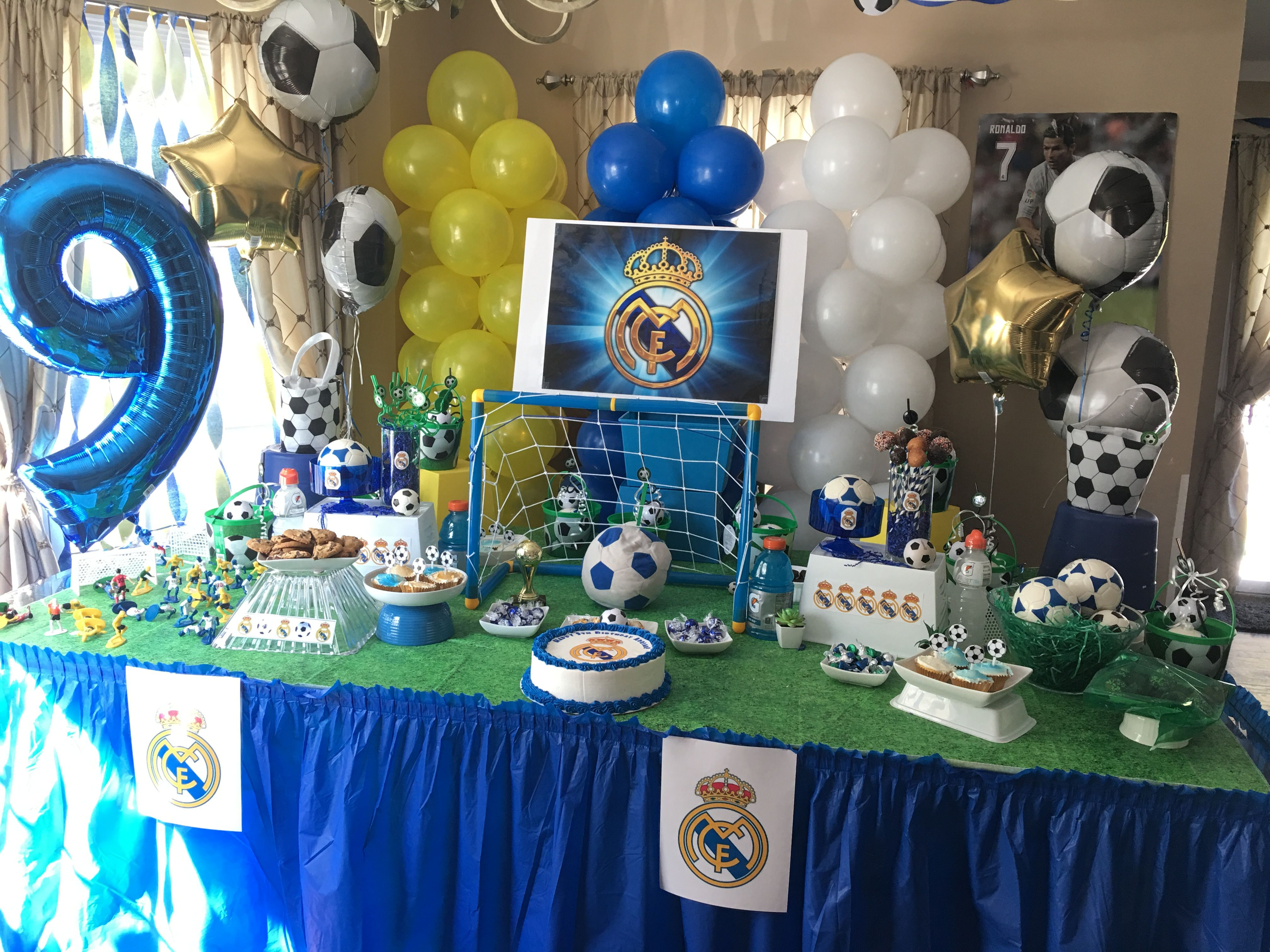 Real Madrid Birthday Party Futbol Soccer Birthday Parties Real