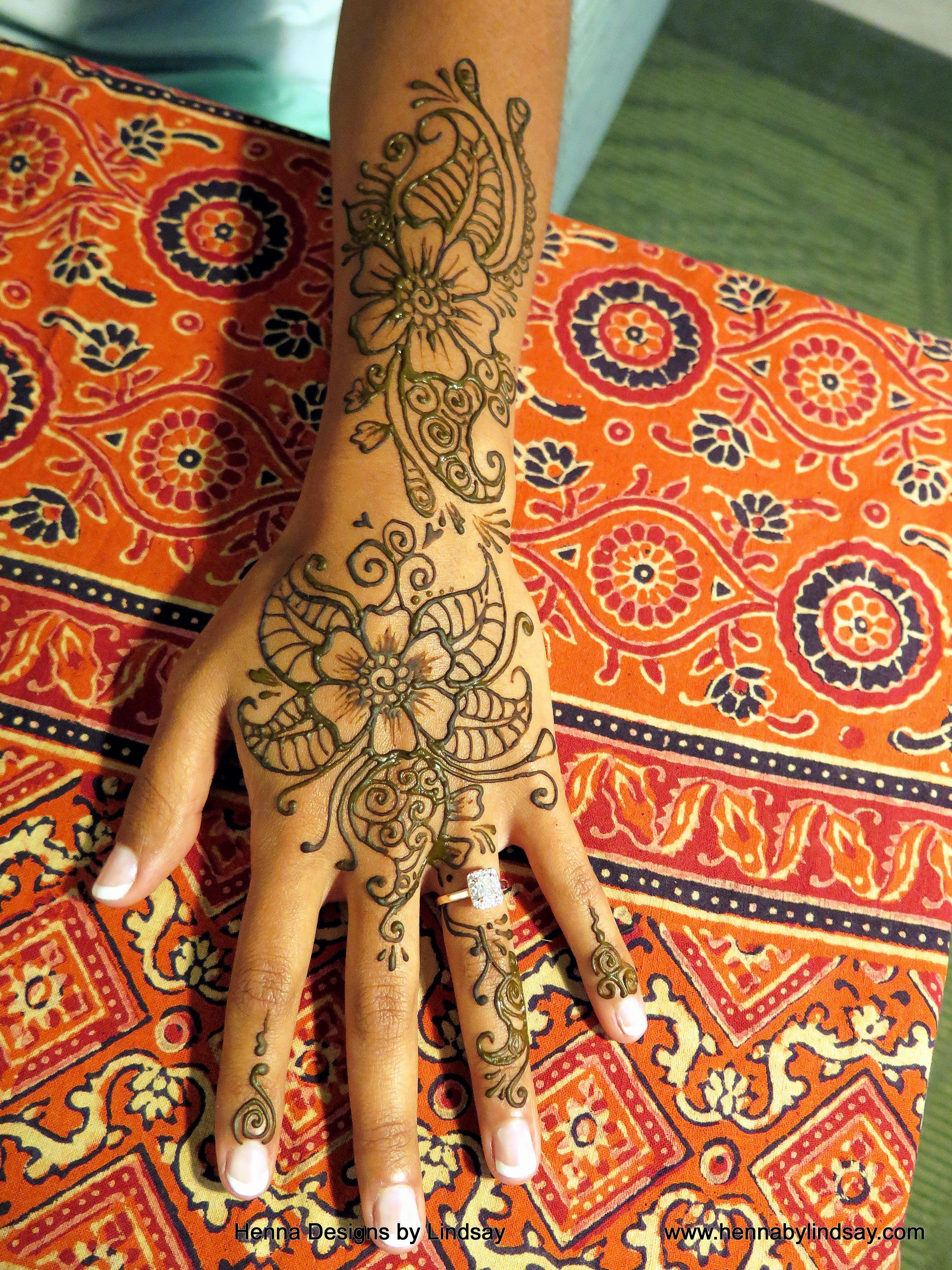 Cbebebaa Henna Flower Tattoo