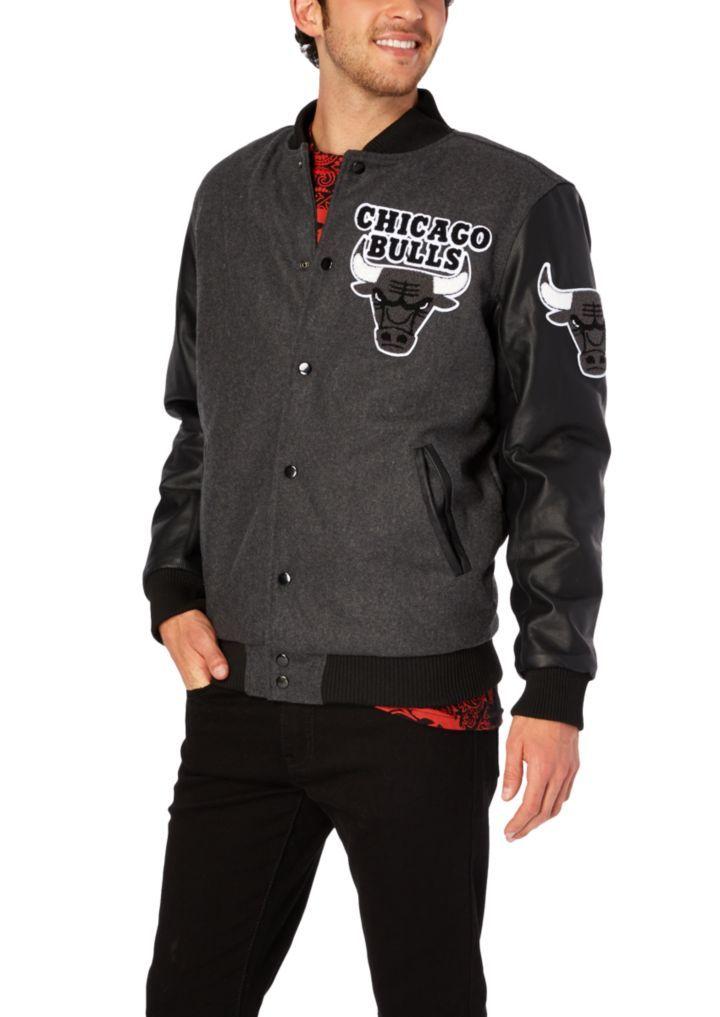 aab0841370b84a Chicago Bulls Wool Bomber Jacket