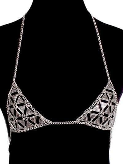 e26a5d4da5c88c Zaful -  Zaful Vintage Bra Triangle Body Chain - AdoreWe.com