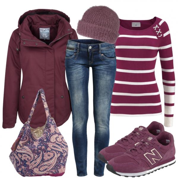 Freizeit Outfits: Purple bei FrauenOutfits.de ____ Freizeit-Oufit für Frauen, casual Outfit, Alltagsoutfit, zum Wohlfühlen... #gemütlich #Damenoutfit #Frauenoutfit #Mode #Fashion #businesscasualoutfitsforwomensummer