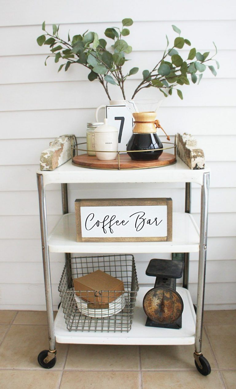 A Coffee Bar Cart - Why did I wait so long! - One Thousand Oaks #coffeebarideas