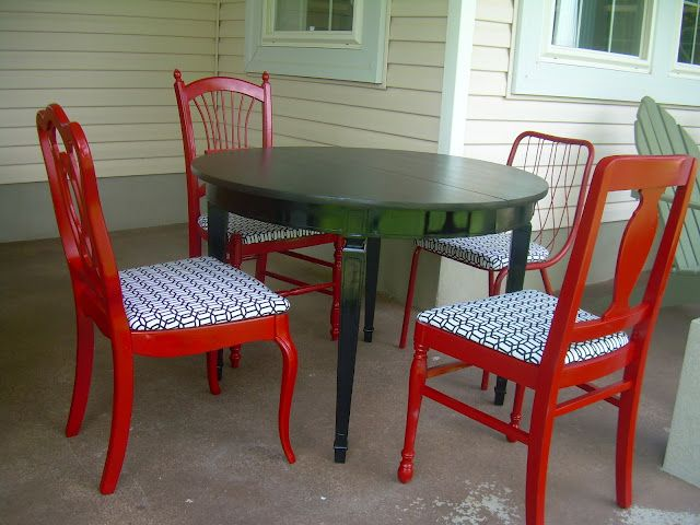 Red Kitchen Chairs Orlando Hotels With Full Around Wood Table Furniture In 2018 Pinterest