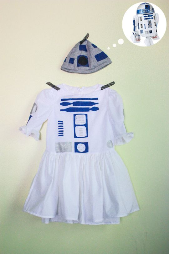 Little Girl R2D2 Costume. I love love love this! At One Little Minute.