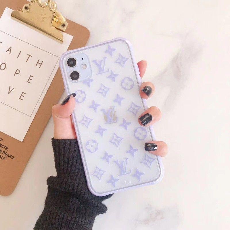 Lilac Monogram Iphone Case In 2020 Monogram Iphone Cases Pink Phone Cases Luxury Iphone Cases