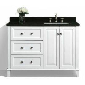 Ancerre Designs Hannah White 48 In Undermount Single Sink Birch