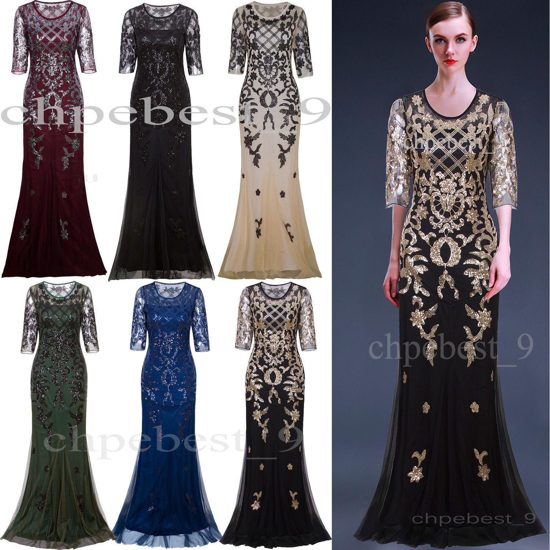 Awesome amazing s gatsby dress long wedding prom dresses