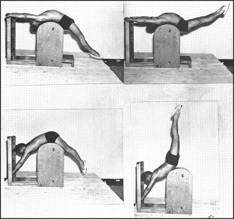 Pilates Mat Exercise Poster: Joseph Pilates On The Ladder Barrel. #pilates #history
