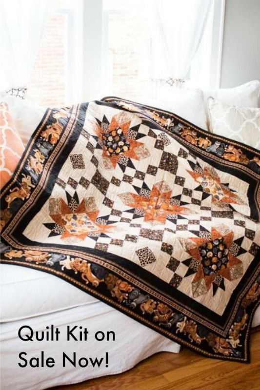 Quilt Kit featuring Wildcats collection! Awesome Kit for any cat ...