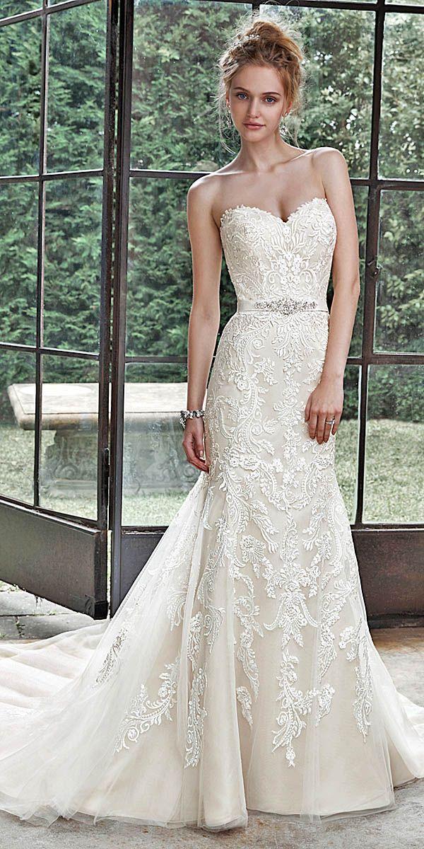 maggie sottero sweetheart lace wedding dress | Spitzen-Hochzeiten ...