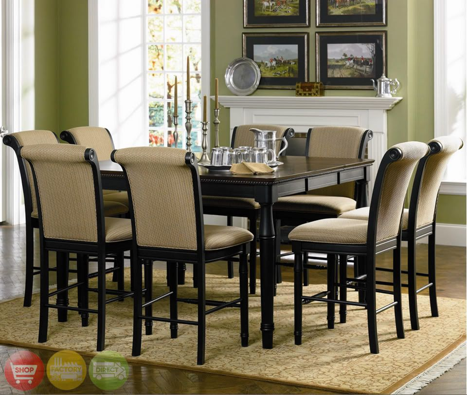 Counter Height Black Dining Room Table Sets  Appliances Entrancing Pub Height Dining Room Sets Decorating Inspiration