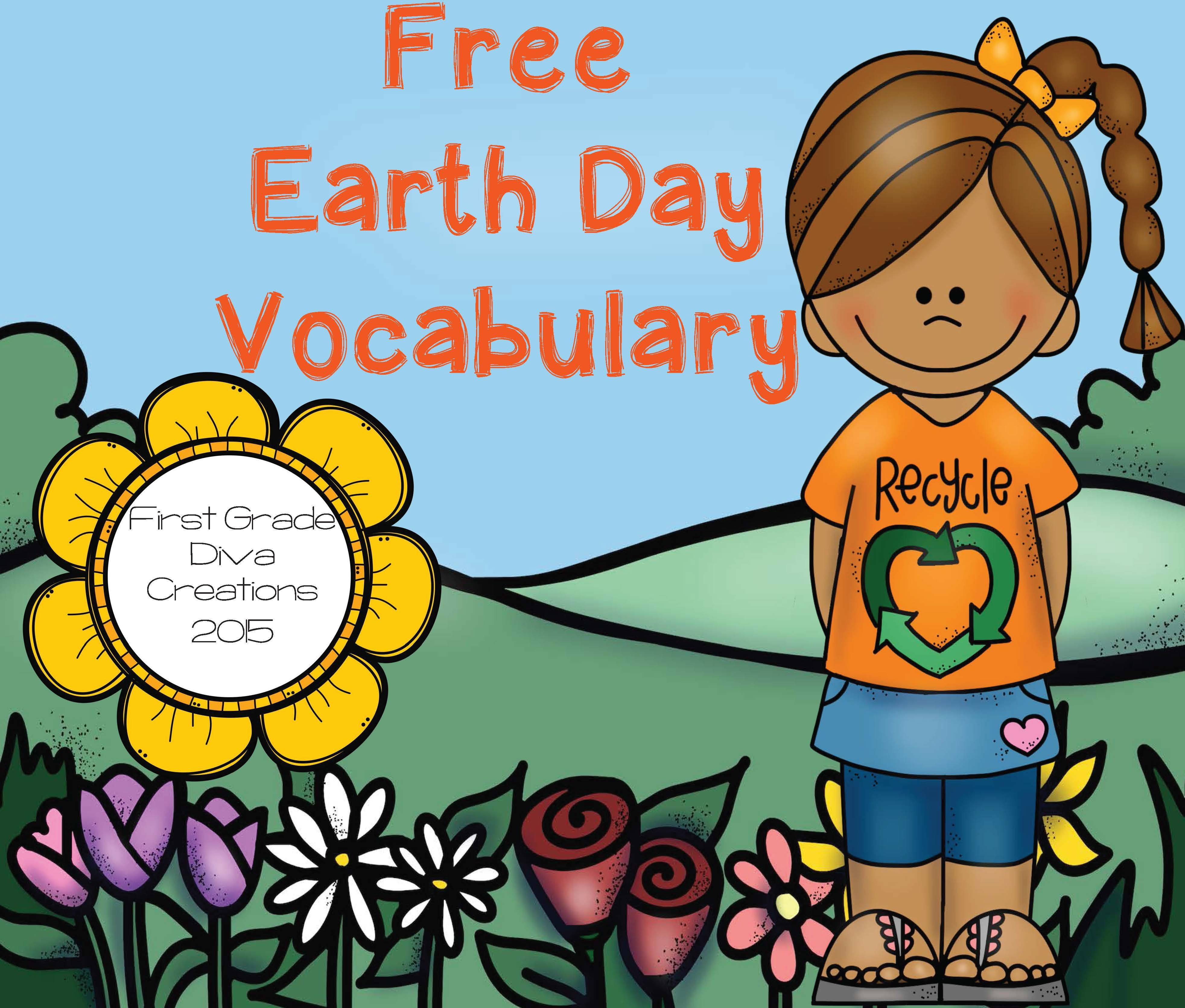 Earth Day Free Activities Vocabulary Resource