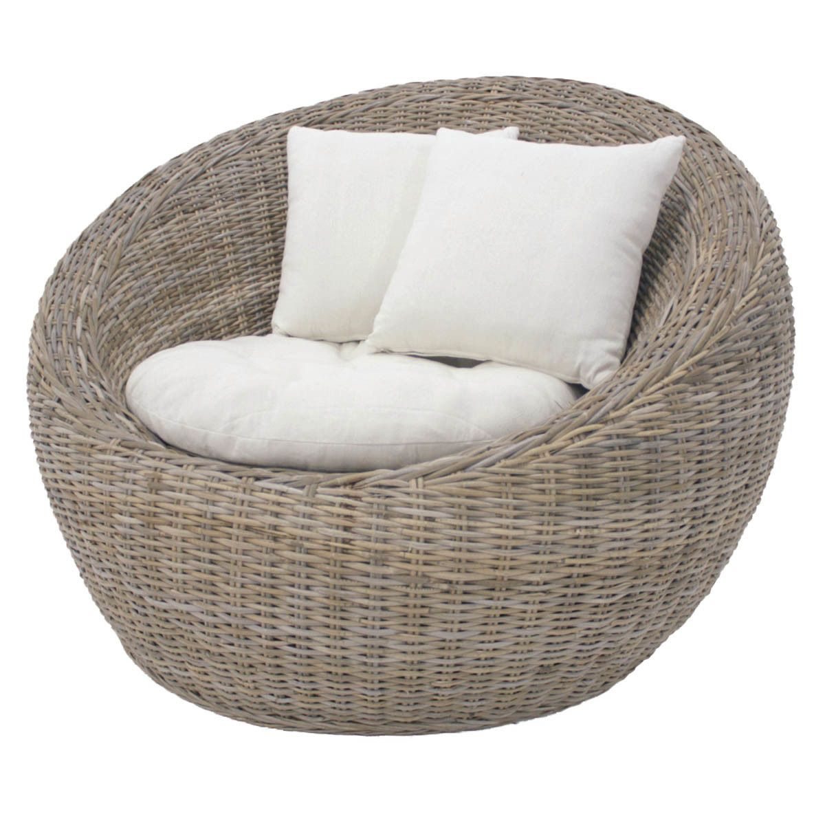Carlos Kubu Tub Chair Temple Webster Wicker Patio Chairs Outdoor Wicker Furniture Outdoor Wicker Patio Furniture