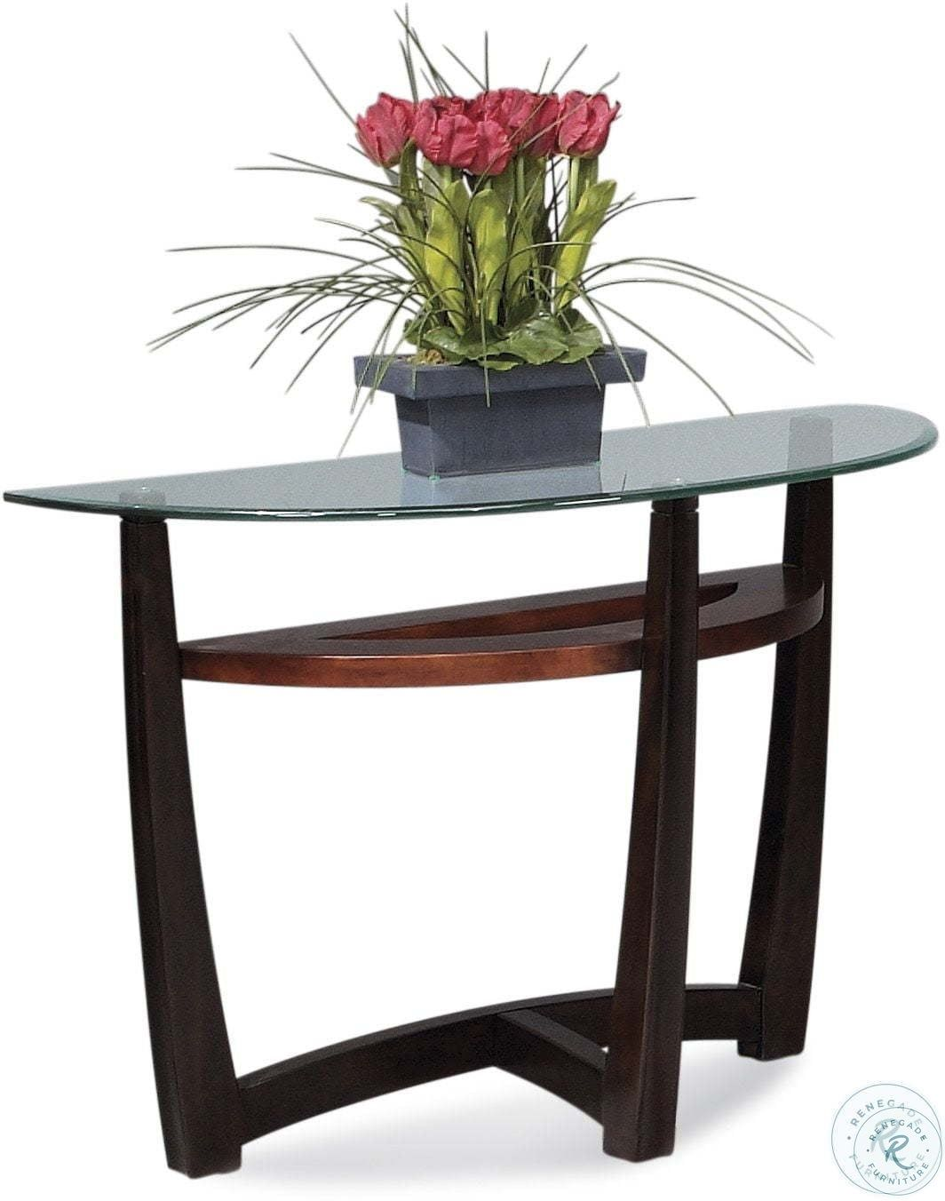 Metro Copper And Espresso Round Occasional Table Set In 2021 Console Table Bassett Mirror Modern Console Tables [ 1352 x 1064 Pixel ]