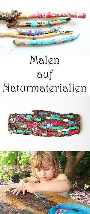 Basteln mit Naturmaterialien... Mal anders:) + Video #bastelnmitkastanienkinder