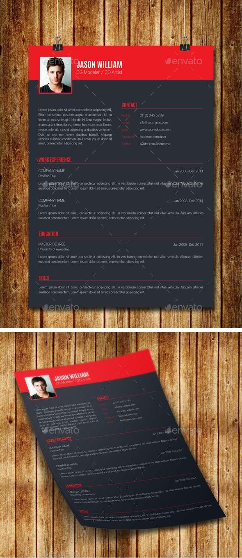 Clean Modern Resume V10   Pinterest   Modern resume, Modern and Fonts