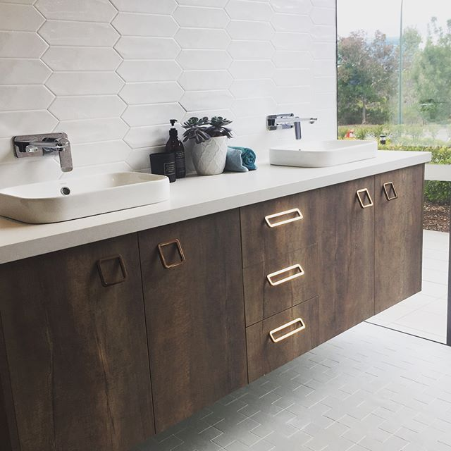 Carrara Marble Kitchen Benchtops: It's Finished! This New Vanity Display In Our Sydney Showroom Is Done And Looking Mighty Fine