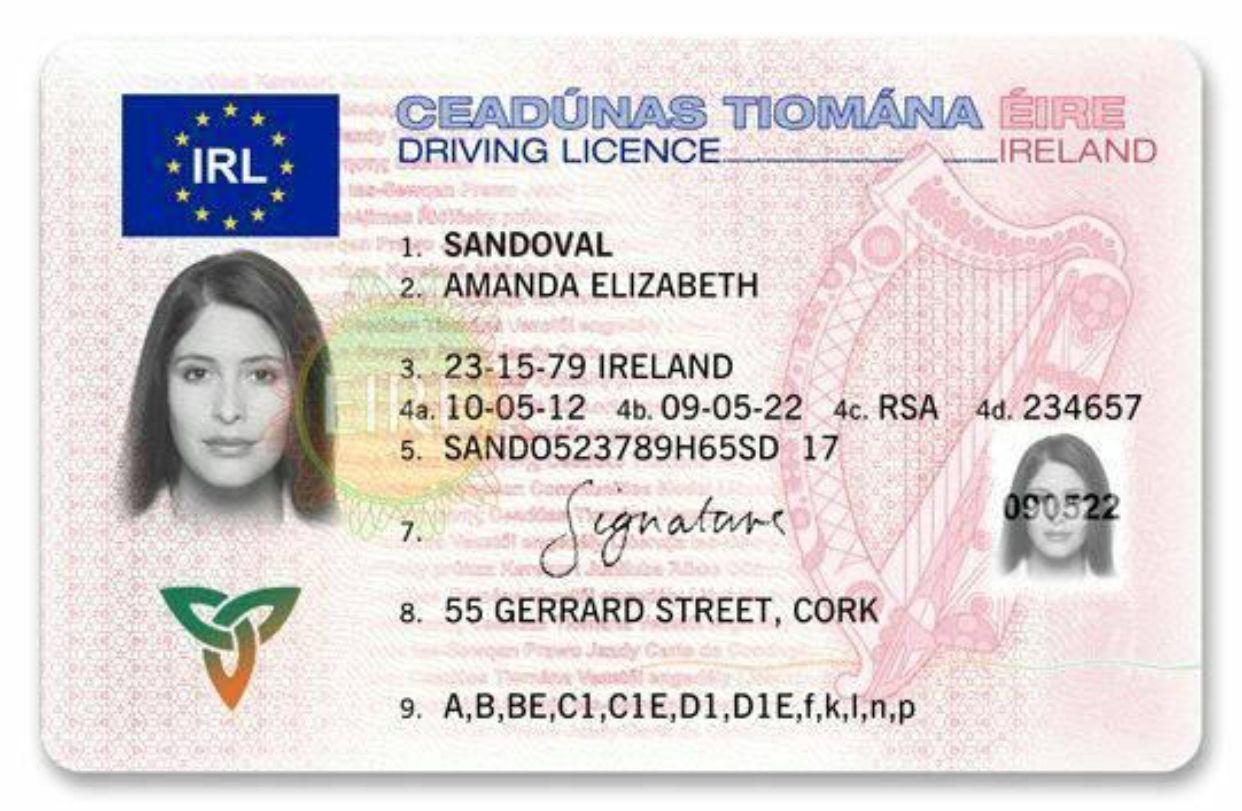 Irish Drivers License For Sale Buy Ireland Drivers License Online Driving License Ireland Drivers License