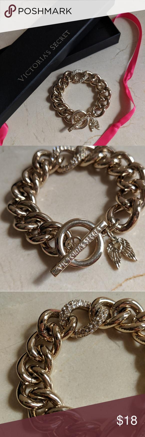 626a948c397b5 Victoria's Secret Angel Wing Chunky Charm Bracelet Stylish ...