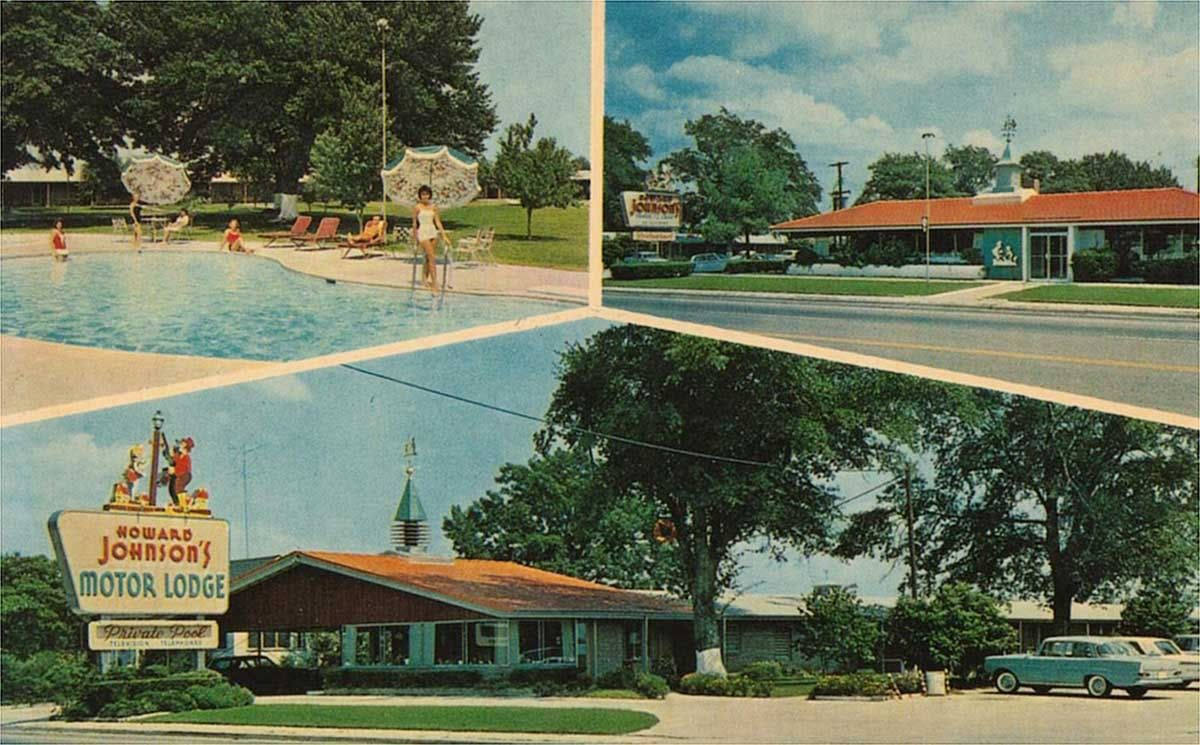 route 301 postcard images US 301 N. Allendale, South