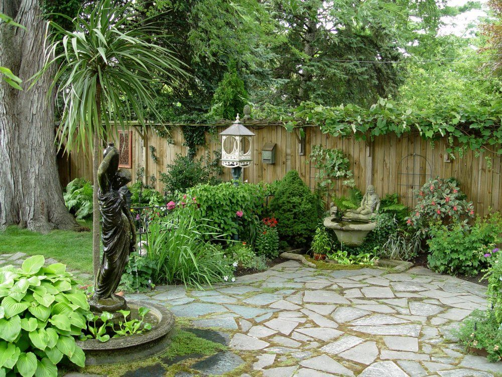 Cute bird feeders: gothic black statue fountain for small pond in soothing backyard garden with catchy cute bird feeder