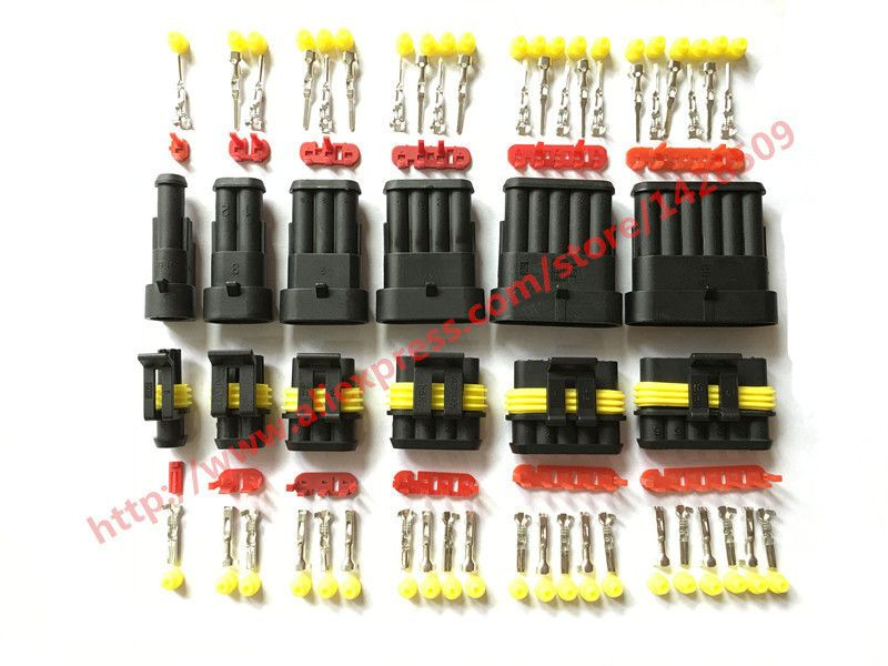 30 Sätze Superseal AMP Tyco 1,5 Kit 1/2/3/4/5/6 Pin Weibliche ...