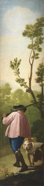 GOYA (1746-1828). Cazador con sus perros/Hunter with his dogs 1775. Óleo sobre…
