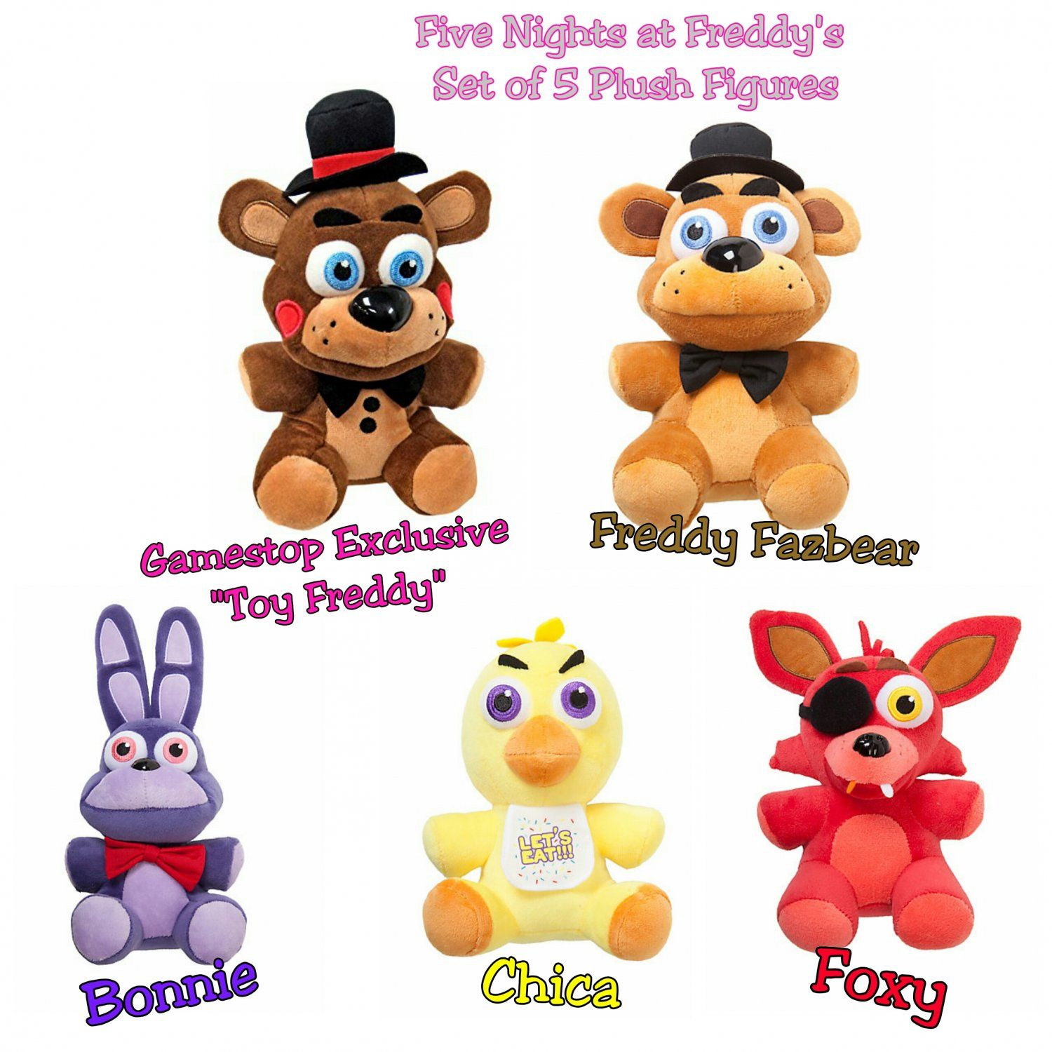 Five Nights At Freddy's FNAF Set of 5 Collectible 6