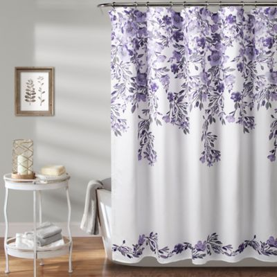 Lush Decor Tanisha Shower Curtain In Purple Floral Shower