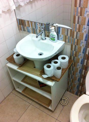 Armario Para Pia De Coluna Com Imagens Moveis Para Banheiro