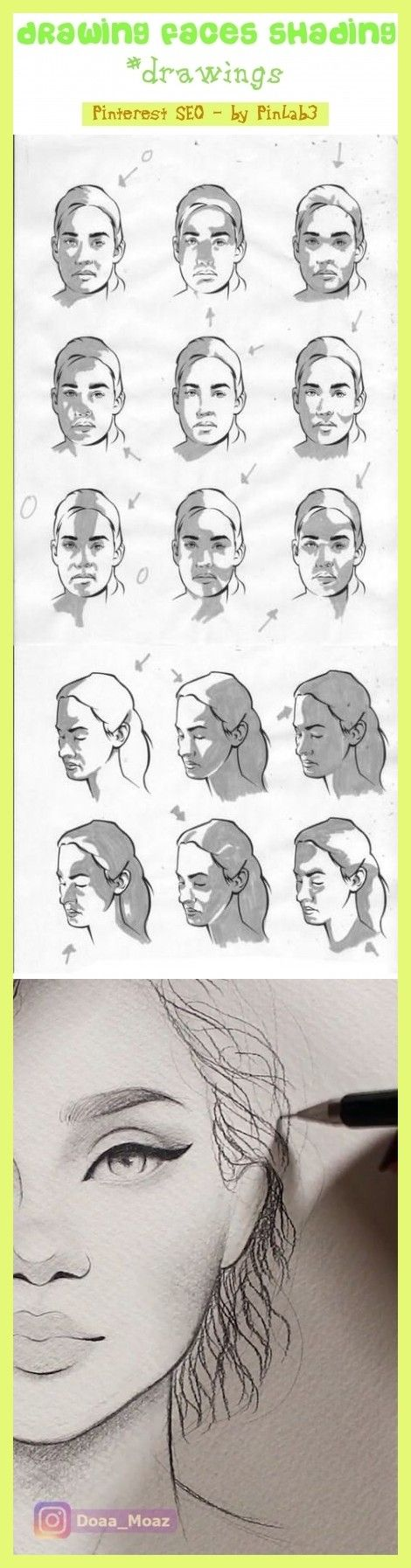Drawing faces shading drawing faces shading Zeichnen