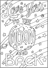 Image Result For I Love You To The Moon And Back Adult Coloring