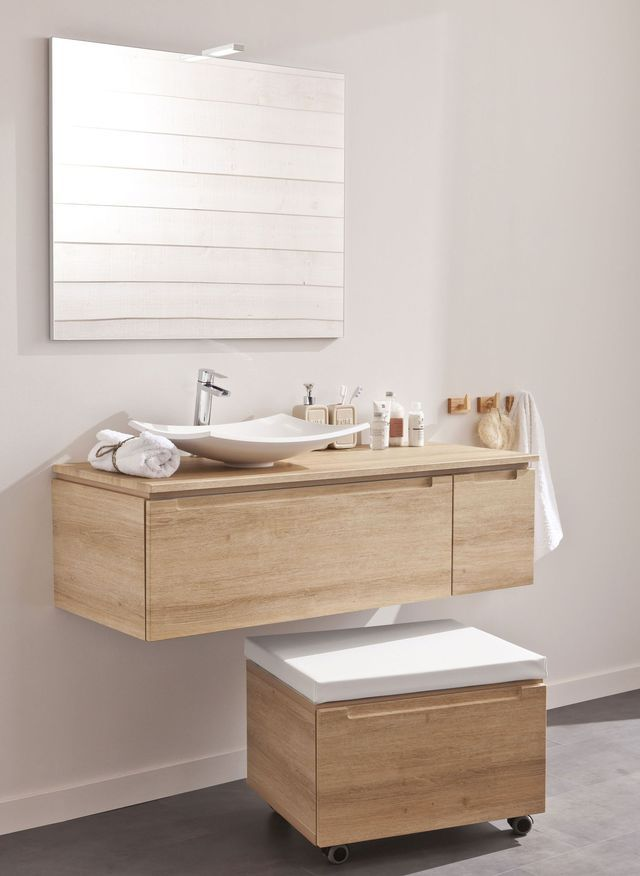 Meuble salle bain bois, design, Ikea, Lapeyre Bathroom - leroy merlin meuble salle de bain neo