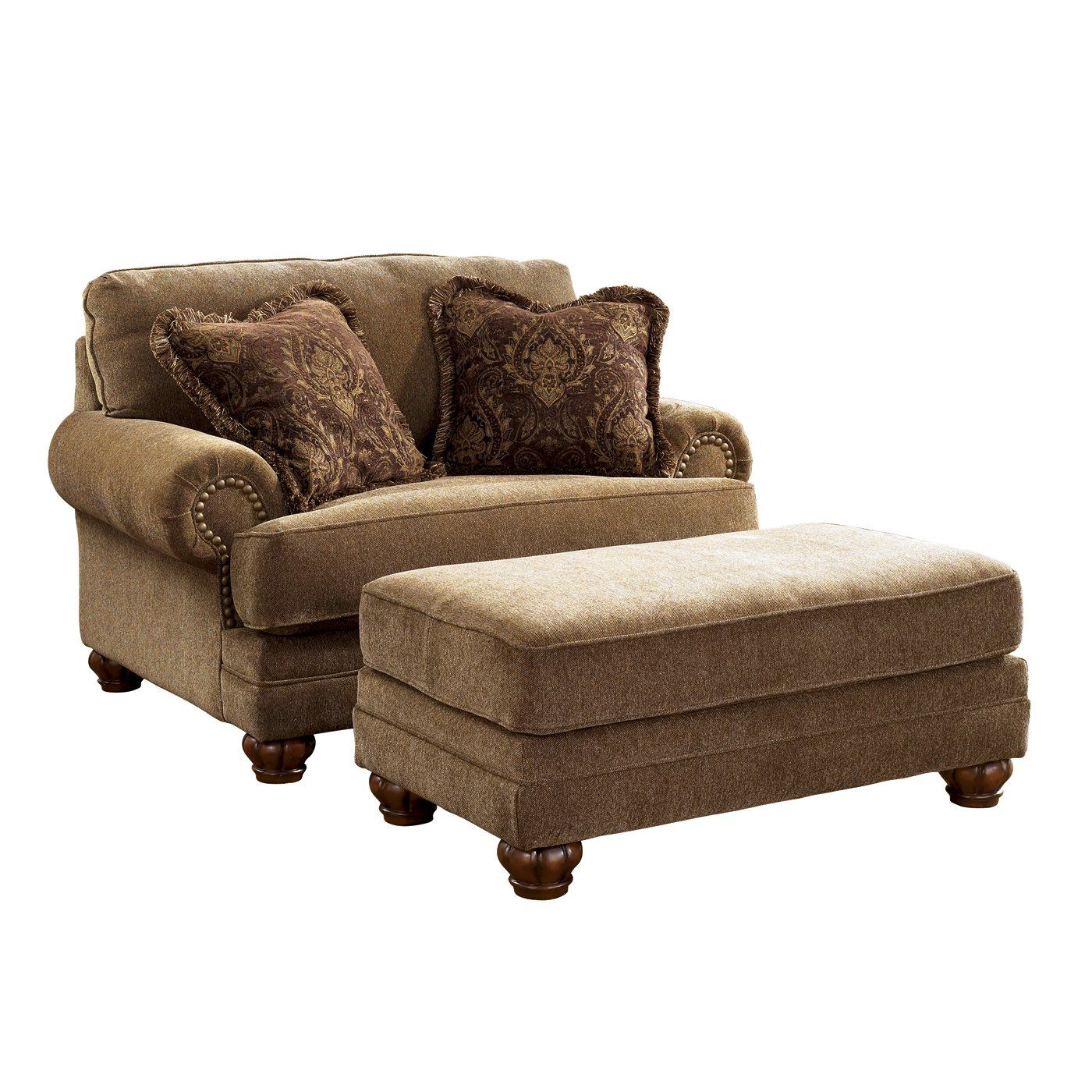 Reading Chair And Ottoman Signature Design By Ashley Stafford Chair And A Half With